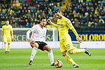 Roberto Soriano (r) of Villarreal CF fights for the ball with Daniel Parejo Munoz of Valencia CF during their La Liga match between Villarreal CF and Valencia CF at the Estadio de la Cerámica on 21 January 2017 in Villarreal, Spain. Photo by Maria Jose Segovia Carmona / Power Sport Images
