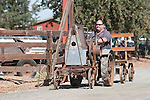 Annual fall Gas-Up at McFarland Ranch near Galt, Calif. of Branch 13, Early-Day Gas Engine and Tractor Association. (EDGE & TA)..Home-made tractor made from Fairbank-Morse single cylindar gas engine