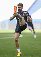 Olivier Giroud (Arsenal) of France during the France National Team Training session ahead of the match with England tomorrow evening at Stade de France, Paris, France on 12 June 2017. Photo by David Horn / PRiME Media Images.
