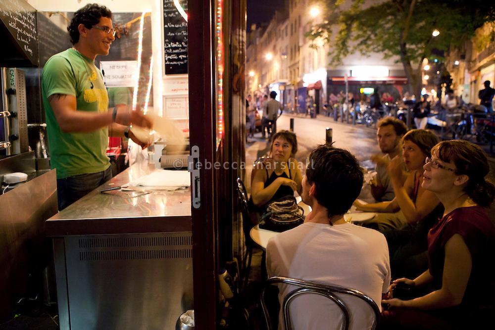 Snack bar in La Plaine district, Marseille, 16 June 2011