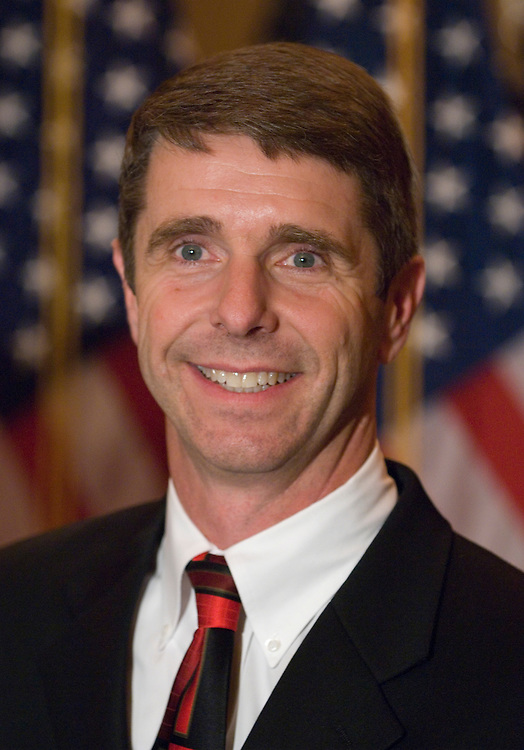 Rep. Rob Wittman, R-Va., particpates in his mock swearing-in ceremony after being sworn in on the floor of the House on Thursday, Dec. 12, 2007.
