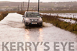 4 better than 2<br /> --------------------<br /> Four wheel drive vehicles were able to get through the badly flooded road just outside Ballyheigue village on the Tralee side last Sunday afternoon with some ease,<br />  but when the tide was full at about noon the flood was too deep for any vehicle and traffic was diverted to the village via Kilmoyley