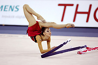 September 27, 2003; Budapest, Hungary; ELIZABETH PAISIEVA of Bulgaria performs with ribbon at 2003 World Championships.