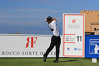 Thorbjorn Olesen (DEN) on the 11th tee during the Pro-Am of the Rocco Forte Sicilian Open 2018 on Wednesday 4th May 2018.<br /> Picture:  Thos Caffrey / www.golffile.ie<br /> <br /> All photo usage must carry mandatory copyright credit (&copy; Golffile | Thos Caffrey)