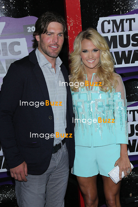 Mike Fisher & Carrie Underwood at the 2013 Country Music Awards in Nashville, Tennessee. June 5, 2013.