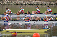Sarasota. Florida USA.  NED W4X. Bow.  Olivia VAN ROOIJEN, Sophie SOUWER and Nicole BEUKERS, Final A. 2017 World Rowing Championships, Nathan Benderson Park<br /> <br /> Saturday  30.09.17   <br /> <br /> [Mandatory Credit. Peter SPURRIER/Intersport Images].<br /> <br /> <br /> NIKON CORPORATION -  NIKON D4S  lens  VR 500mm f/4G IF-ED mm. 200 ISO 1/1250/sec. f 4
