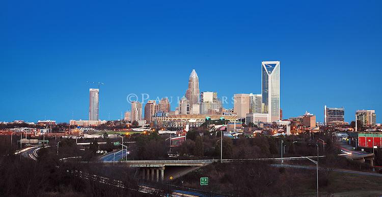 The Charlotte NC Skyline 2012