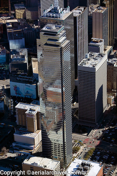 aerial photograph of Bank of America Plaza, 901 Main St,  Dallas, Texas