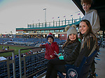 Vada, Cecily, James and Stot during the Reno Aces vs Nevada Wolf Pack baseball game at Greater Nevada Field in downtown Reno, Nevada on Tuesday, April 2, 2019.