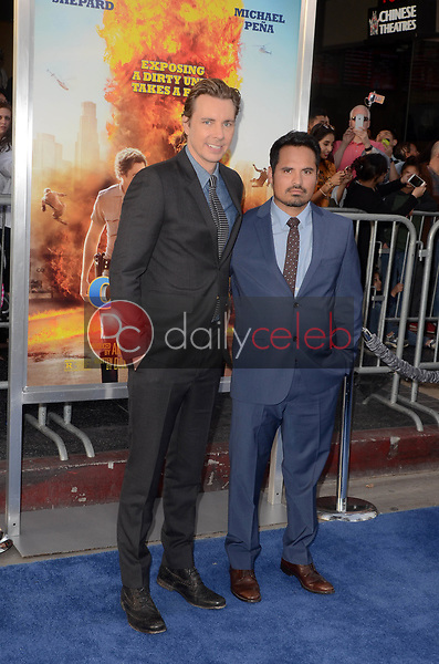 """Dax Shepard, Michael Pena<br /> at the """"Chips"""" Los Angeles Premiere, TCL Chinese Theater, Hollywood, CA 03-20-17<br /> David Edwards/DailyCeleb.com 818-249-4998"""