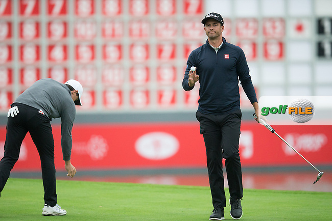 Adam Scott (AUS) on the 18th during round 2 at the WGC-HSBC Champions, Sheshan International GC, Shanghai, China PR.  28/10/2016<br /> Picture: Golffile | Fran Caffrey<br /> <br /> <br /> All photo usage must carry mandatory copyright credit (&copy; Golffile | Fran Caffrey)