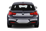 Straight rear view of a 2018 BMW 1 Series Base 5 Door Hatchback stock images