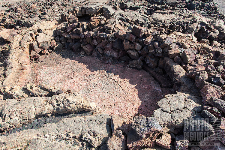 Rock shelter at the Waikoloa Petroglyph Field, Big Island.