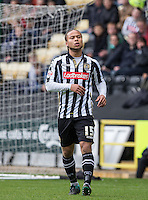 Curtis Thompson of Notts County during the Sky Bet League 2 match between Notts County and Wycombe Wanderers at Meadow Lane, Nottingham, England on 28 March 2016. Photo by Andy Rowland.