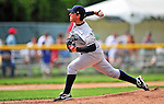 18 July 2010: Staten Island Yankees pitcher Richard Martinez on the mound against the Vermont Lake Monsters at Centennial Field in Burlington, Vermont. The Lake Monsters fell to the Yankees 9-5 in NY Penn League action. Mandatory Credit: Ed Wolfstein Photo