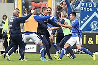 Brescia 30/09/2017 - campionato di calcio serie B / Brescia - Perugia / foto Matteo Gribaudi/Image Sport/Insidefoto<br /> nella foto: esultanza gol Dimitri Bisoli