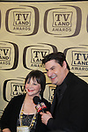 "Days of Our Lives Ro Shuter interviews Cindy Williams of Laverne & Shirley with cast was honored with the Fan Favorite Award at the 10th Anniversary of the TV Land Awards on April 14, 2012 to honor shows ""Murphy Brown"", ""Laverne & Shirley"", ""Pee-Wee's Playhouse"", ""In Loving Color"" and ""One Day At A Time"" and Aretha Franklin at the Lexington Armory, New York City, New York. (Photo by Sue Coflin/Max Photos)"