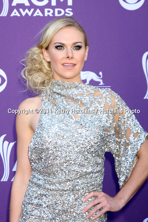LAS VEGAS - APR 1:  Laura Bell Bundy arrives at the 2012 Academy of Country Music Awards at MGM Grand Garden Arena on April 1, 2010 in Las Vegas, NV.