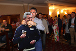 Kenny Logan with a cardboard cut out of Gavin Hastings.<br /> Celebrity Cup Players BBQ<br /> Celtic Manor Resort<br /> 04.07.14<br /> &copy;Steve Pope-SPORTINGWALES