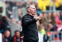 Fleetwood Town Manager John Sheridan during the Sky Bet League 1 match between Rotherham United and Fleetwood Town at the New York Stadium, Rotherham, England on 7 April 2018. Photo by Leila Coker.