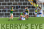 Kerry Bryan Sheehan lashes out against Kieran Hughes Monaghan  which led to his red card during their NFL clash in Fitzgerald Stadium on Sunday