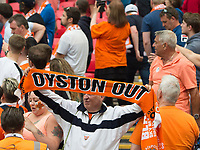 Blackpool fans during the Sky Bet League 2 PLAY OFF FINAL match between Exeter City and Blackpool at Wembley Stadium, London, England on 28 May 2017. Photo by Andrew Aleksiejczuk.