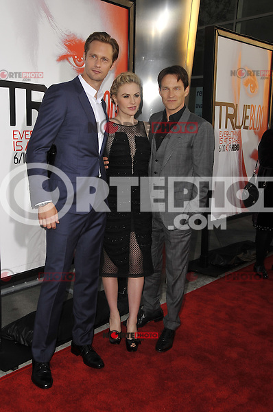 Alexander Skarsgard, Anna Paquin and Stephen Moyer at HBO's 'True Blood' Season 5 Los Angeles premiere at ArcLight Cinemas Cinerama Dome on May 30, 2012 in Hollywood, California. © mpi35/MediaPunch Inc.