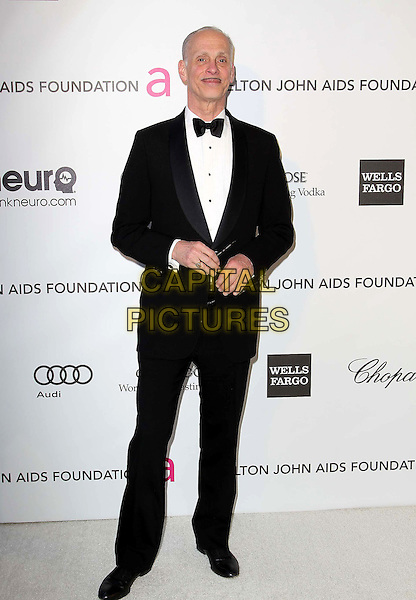 John Waters.21st Annual Elton John Academy Awards Viewing Party held at West Hollywood Park, West Hollywood, California, USA..February 24th, 2013.oscars full length bow tie white tuxedo jacket black moustache mustache facial hair.CAP/ADM/KB.©Kevan Brooks/AdMedia/Capital Pictures.