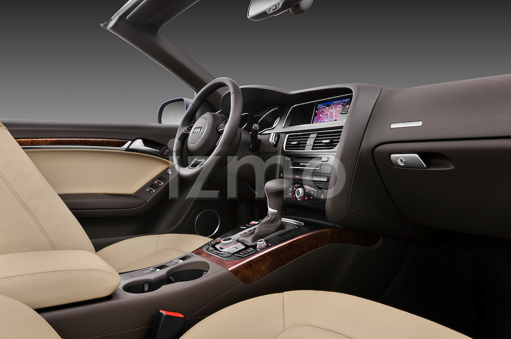 Passenger side dashboard view of a 2013 Audi A5 Convertible.