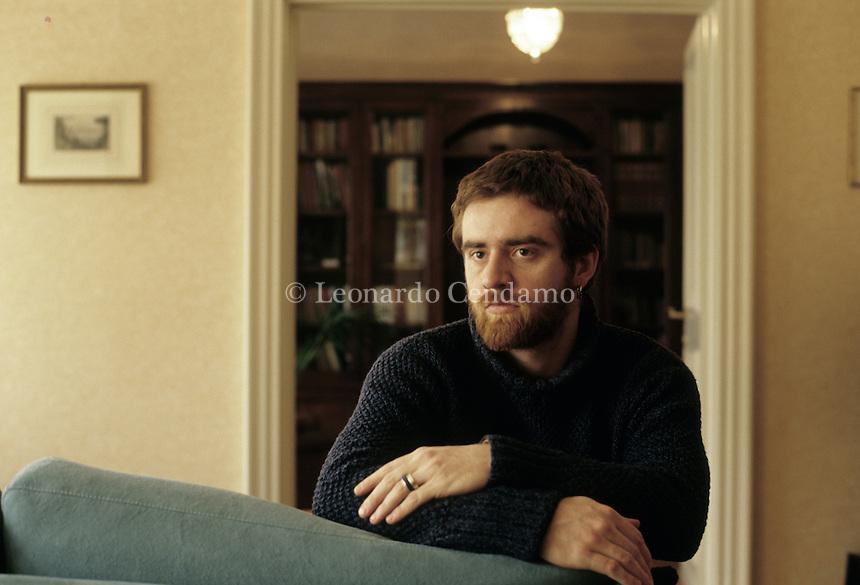 Paolo Cognetti, italian writer. Milan, 2007.  © Leonardo Cendamo