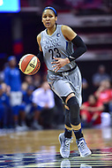 Washington, DC - May 27, 2018: Minnesota Lynx forward Maya Moore (23) in action during game between the Mystics and Lynx at the Capital One Arena in Washington, DC. (Photo by Phil Peters/Media Images International)