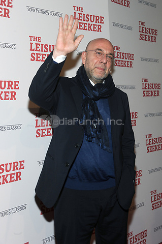 NEW YORK, NY - JANUARY 11:  Paolo Virzi at The Leisure Seeker New York Screening at AMC Loews Lincoln Square in New York City on January 11, 2018. Credit: John Palmer/MediaPunch