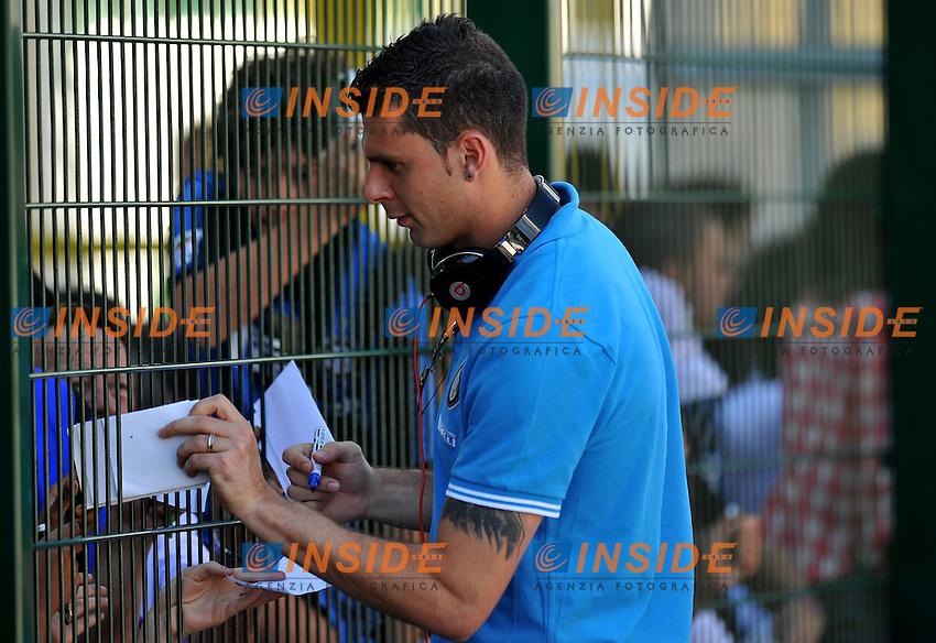 """THIAGO MOTTA (Inter) .Inter Vs Cremonese .Football Calcio gara amichevole 2011/2012 .Rovereto 20/7/2011 Stadio """"Rovereto"""".Foto Alessandro Sabattini Insidefoto"""