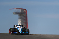 1st November 2019; Circuit of the Americas, Austin, Texas, United States of America; Formula 1 United Sates Grand Prix, practice day; ROKiT Williams Racing, Nicholas Latifi - Editorial Use