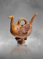 Bronze Age Anatolian terra cotta duck shaped ritual vessel - 19th to 17th century BC - Kültepe Kanesh - Museum of Anatolian Civilisations, Ankara, Turkey.