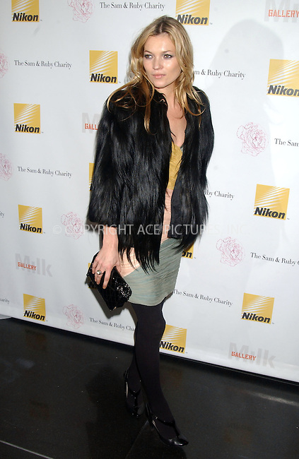 WWW.ACEPIXS.COM . . . . .....December 1 2006, New York City....Kate Moss arriving at the Charity Auction Event to Benefit the Sam & Ruby Charity at Milk Gallery hosted by Nikon and Kate Moss....Please byline: Kristin Callahan - ACEPIXS.COM..... *** ***..Ace Pictures, Inc:  ..(212) 243-8787 or (646) 769 0430..e-mail: info@acepixs.com..web: http://www.acepixs.com