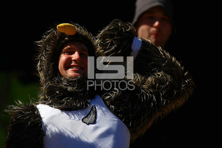 New Zealand fans in the stands before the game against Slovakia