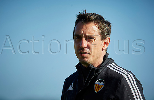 03.24.2016. Valencia CF Sports City, Training session. Valencia CF Head coach Gary Neville looks on during a training session.