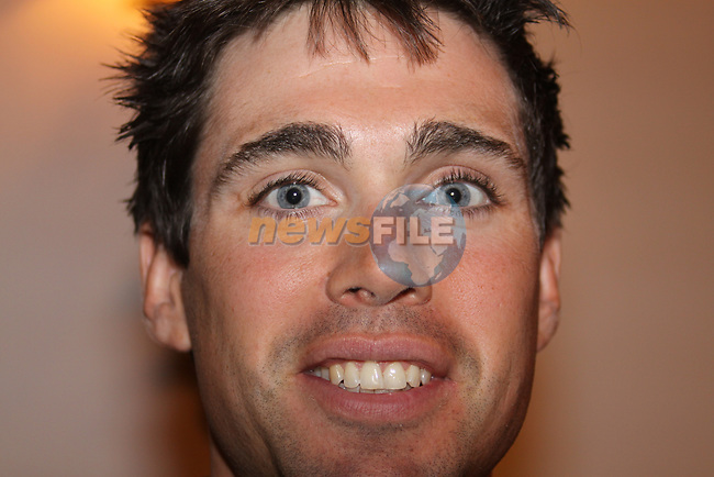 Philip Deignan (IRL) Cervelo Test Team at the press conference before the start of the 2009 Tour of Ireland, held in the Ritz-Carlton Hotel Powerscourt, Enniskerry to Waterford, Ireland. 20th August 2009.<br /> (Photo by Eoin Clarke/NEWSFILE)