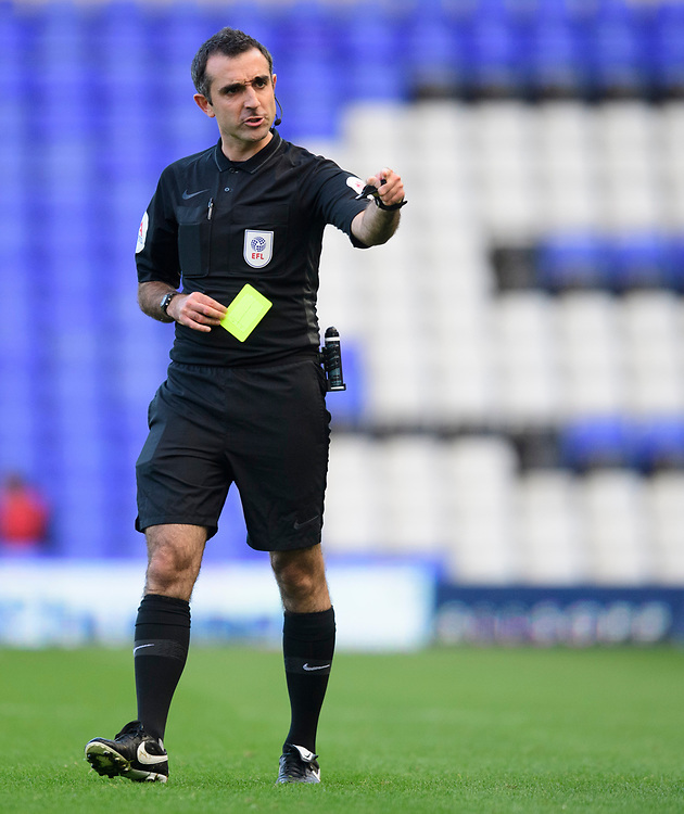 Referee Paul Marsden<br /> <br /> Photographer Chris Vaughan/CameraSport<br /> <br /> The EFL Sky Bet League One - Coventry City v Blackpool - Saturday 7th September 2019 - St Andrew's - Birmingham<br /> <br /> World Copyright © 2019 CameraSport. All rights reserved. 43 Linden Ave. Countesthorpe. Leicester. England. LE8 5PG - Tel: +44 (0) 116 277 4147 - admin@camerasport.com - www.camerasport.com