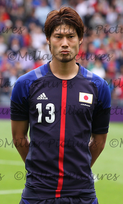 Men's Olympic Football match Spain v Japan on 26.7.12...Daisuke Suzuki of Japan, during the Spain v Japan Men's Olympic Football match at Hampden Park, Glasgow.........