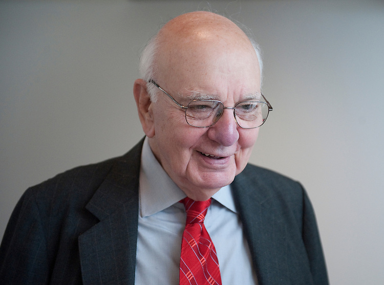"UNITED STATES - JUNE 21: Former Federal Reserve chairman Paul Volcker arrives in the Capitol Visitors Center for the release of the NYU report ""Creating High Performance Government: A Once-in-a-Lifetime Opportunity"" on Tuesday, June 21, 2011. (Photo By Bill Clark/Roll Call)"