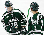 Corey Kalk (Dartmouth - 18), [=d2[ - The Harvard University Crimson defeated the Dartmouth College Big Green 5-2 to sweep their weekend series on Sunday, November 1, 2015, at Bright-Landry Hockey Center in Boston, Massachusetts. -