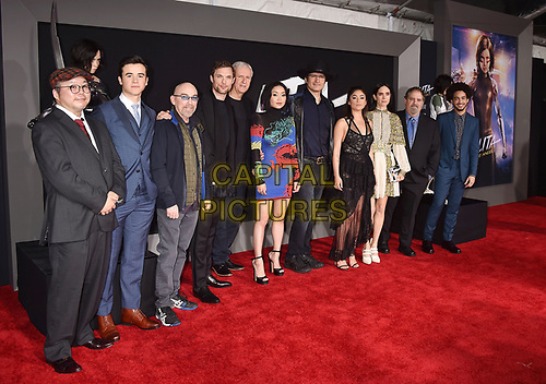 WESTWOOD, CA - FEBRUARY 05: (L-R) Yukito Kishiro, Keean Johnson, James Cameron, Robert Rodriguez, Lana Condor, Rosa Salazar, Jennifer Connelly, Jon Landau and Jorge Lendeborg Jr. attend the Premiere Of 20th Century Fox's 'Alita: Battle Angel' at Westwood Regency Theater on February 05, 2019 in Los Angeles, California.<br /> CAP/ROT/TM<br /> ©TM/ROT/Capital Pictures