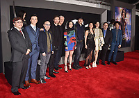 WESTWOOD, CA - FEBRUARY 05: (L-R) Yukito Kishiro, Keean Johnson, James Cameron, Robert Rodriguez, Lana Condor, Rosa Salazar, Jennifer Connelly, Jon Landau and Jorge Lendeborg Jr. attend the Premiere Of 20th Century Fox's 'Alita: Battle Angel' at Westwood Regency Theater on February 05, 2019 in Los Angeles, California.<br /> CAP/ROT/TM<br /> &copy;TM/ROT/Capital Pictures