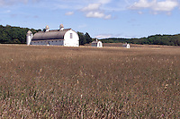 Barns and field near Sleeping Bear Dune, Michigan.