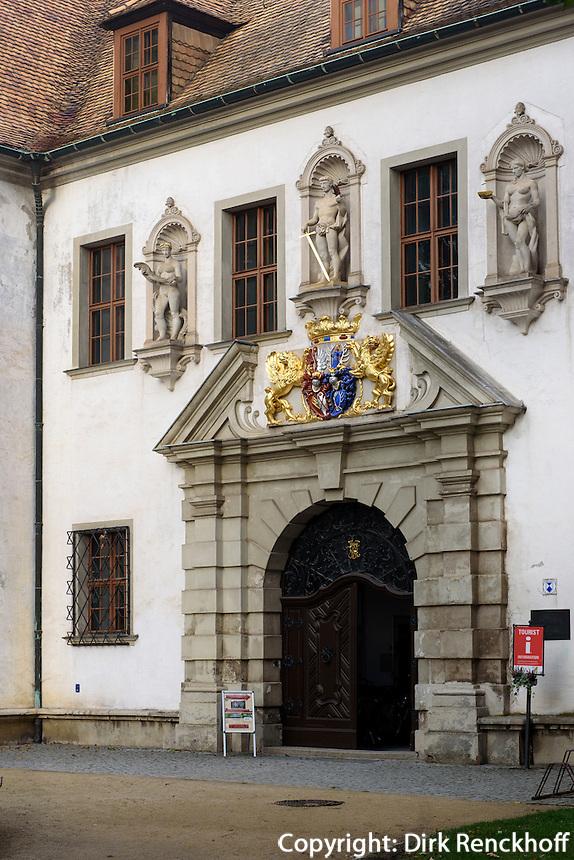 Altes Schloss im F&uuml;rst P&uuml;ckler Park, Bad Muskau, Sachsen, Deutschland, Europa, UNESCO-Weltkuturerbe<br /> old palace  in F&uuml;rst P&uuml;ckler Park, Bad Muskau, Saxony, Germany, Europe, UNESCO-World Heritage