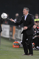 Sporting Kansas City Head Coach Peter Vermes. Sporting Kansas City defeated D.C. United  1-0 at RFK Stadium, Saturday March 10, 2012.