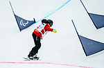 PyeongChang 16/3/2018 - Sandrine Hamel during the snowboard banked slalom at the Jeongseon Alpine Centre during the 2018 Winter Paralympic Games in Pyeongchang, Korea. Photo: Dave Holland/Canadian Paralympic Committee