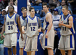 12 January 2008:  Air Force players during the Falcons 65-53 upset victory over the UNLV Runnin' Rebels at Clune Arena, Air Force Academy, Colorado Springs, Colorado.